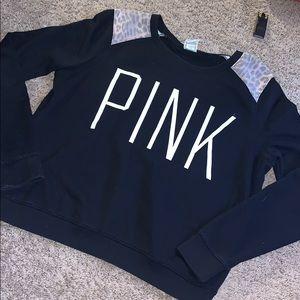 Pink Victoria's Secret pullover sweatshirt size L